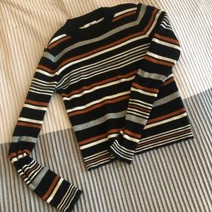 BP Ribbed Striped Sweater